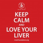 Passing along an important reminder. Photo Credit: American Liver Foundation.