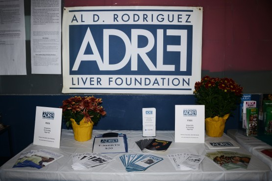 ADRLF display at the free hepatitis screening event organized with the Ryan Center and LESHRC.
